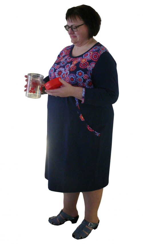 Oh my Good til hende med æblefigur en plus size kjole fra by Viola